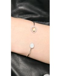 Tai - Orange Pave Open Stone Bracelet - Lyst