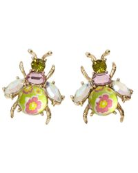 Betsey Johnson | Pink Spring Glam Bug Stud Earrings | Lyst