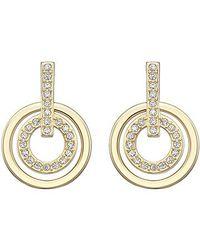 Swarovski Metallic Circle Mini Pierced Earrings