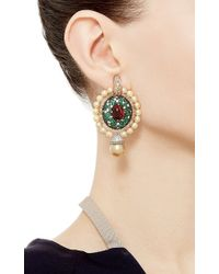 Abellan New York - Multicolor One Of A Kind South Sea Pearl, Diamond And Emerald Earrings - Lyst