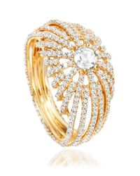 Astley Clarke | Metallic Rising Sun Lattice Diamond Ring | Lyst