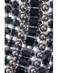 DANNIJO Metallic Hilaria Crystal Collar Necklace