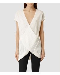 AllSaints - White Twist Sleeveless - Lyst