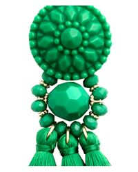 H&M - Green Earrings With Tassels - Lyst