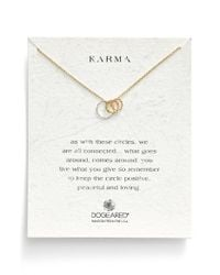 Dogeared | Metallic 'Karma' Circle Pendant Necklace - Mixed (Nordstrom Exclusive) | Lyst