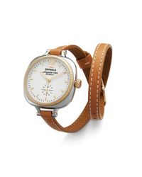 Shinola - Brown The Gomelsky Double Wrap Strap Watch, 36Mm - Lyst