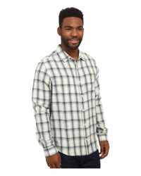 Toad&Co White Mixologist Long Sleeve Shirt for men