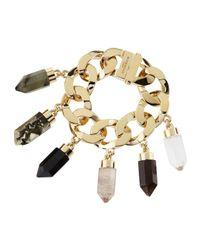 Givenchy - Metallic Point Crystal Charm Bracelet - Lyst