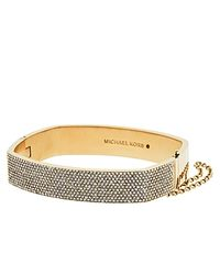 Michael Kors | Metallic Pavé Hinge Bangle | Lyst