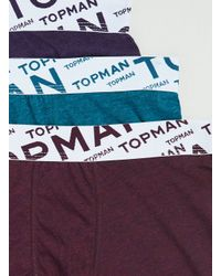 TOPMAN | Multicolor Jewel Marl Angle Underwear 3 Pack for Men | Lyst