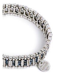 Philippe Audibert   Blue Crystal Bead Edge Elastic Bracelet   Lyst