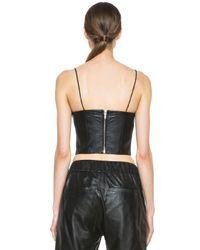 Nicholas - Black Leather Bra Top - Lyst