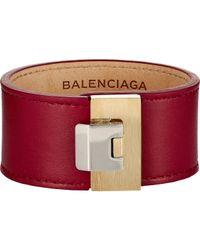 Balenciaga | Red Le Dix Bracelet | Lyst