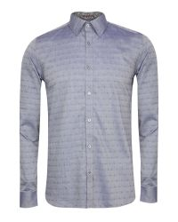 Ted Baker Blue Mymate Fil Coupé Shirt for men