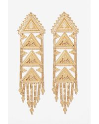 Nasty Gal | Metallic Nili Drop Earrings | Lyst