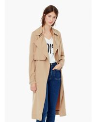Mango - Natural Flowy Trench - Lyst