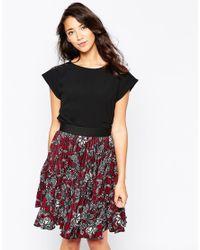 Closet | Black Lace Back Blouse | Lyst