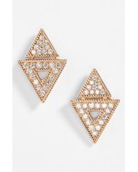 Dana Rebecca - Pink 'jemma Morgan' Diamond Stud Earrings - Lyst