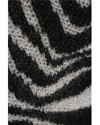 Saint Laurent - Black Oversized Mohair-blend Cardigan - Lyst