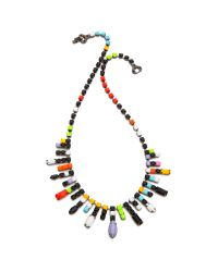 Tom Binns Multicolor De Stijl Neon Jewel Necklace Neon Multi