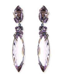 Alexis Bittar Fine Purple 2-Drop Amethyst Cluster Earrings
