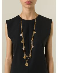 Dolce & Gabbana - Metallic Long Charm Necklace - Lyst