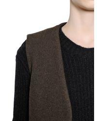 Haider Ackermann Brown Wool Blend Jersey Vest for men