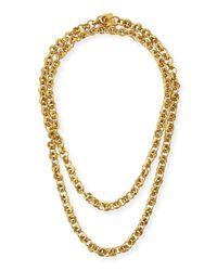 Ashley Pittman Metallic Mini Chain Bronze Necklace