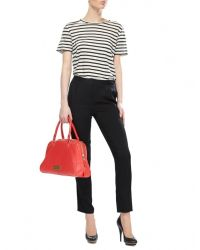 T By Alexander Wang - Leather Straight-leg Pants - Black
