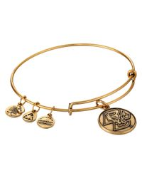 ALEX AND ANI | Metallic Boston College® Logo Charm Bangle | Lyst