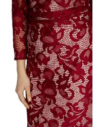 Coast - Red Coralla Lace Dress - Lyst