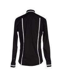 Les Hommes | Black Shirt for Men | Lyst