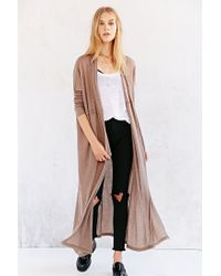 Silence + Noise - Brown Silence + Noise Layer-It-On Duster Cardigan Sweater - Lyst