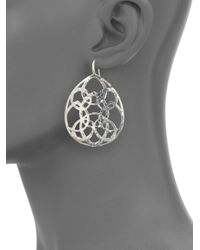 Ippolita | Metallic Wonderland Sterling Silver Large Lacework Teardrop Earrings | Lyst