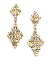 DANNIJO Metallic Sylvie Crystal & Faux Pearl Drop Earrings
