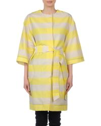 MSGM - Yellow Full-length Jacket - Lyst