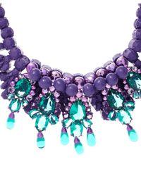 EK Thongprasert Purple 'De Poisson' Necklace