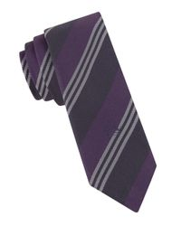 John Varvatos | Purple Coron Striped Silk Tie for Men | Lyst