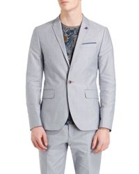 Ted Baker | Gray Shemshy Casual Button Blazer for Men | Lyst