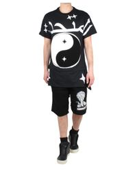 KTZ - Black Layered Mesh Fleece Shorts for Men - Lyst