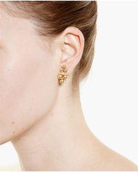 Yvonne Léon | Metallic 18k Yellow Gold Puce Trilogie Perlée Stud Earring | Lyst