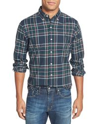 Polo Ralph Lauren | Blue Trim Fit Plaid Poplin Sport Shirt for Men | Lyst