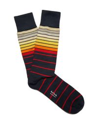 Paul Smith | Blue Navy Graduated Block Stripe Socks for Men | Lyst