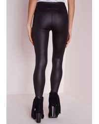 Missguided | Tall High Waisted Shiny Leggings Black | Lyst