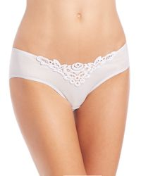 Hanro - White Isabeau Embroidered Lace High-cut Brief - Lyst