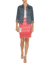 Rebecca Minkoff Orange Angelica Crocheted Cotton Skirt