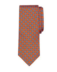 Brooks Brothers | Gray Diamond Link Print Tie for Men | Lyst