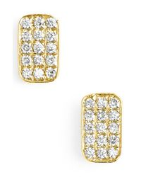 Bony Levy - Yellow 'aurora' Diamond Pave Rectangle Stud Earrings (nordstrom Exclusive) - Lyst