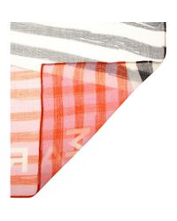 Marc By Marc Jacobs Red Mash Up Printed Scarf