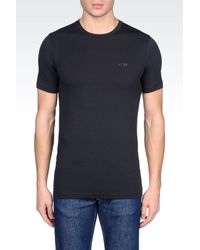 Armani Jeans | Blue T-shirt In Stretch Cotton for Men | Lyst